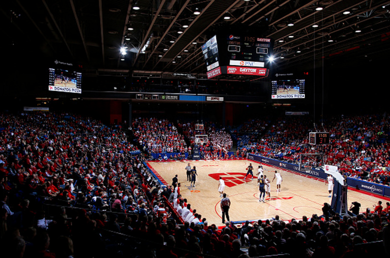 General view as the Dayton Flyers play a game against the La Salle Explorers at UD Arena on January 14, 2015 in Dayton, Ohio. Dayton defeated La Salle 61-50. (Getty)