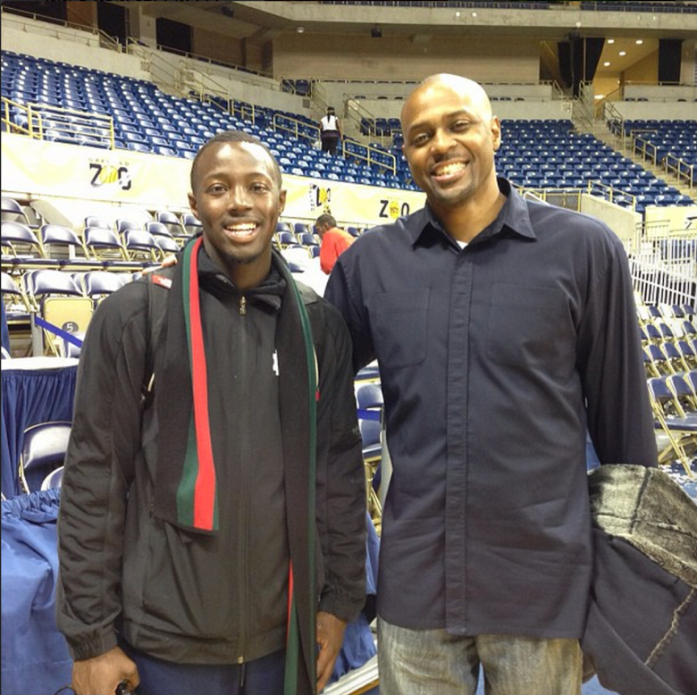 """Notre Dame senior Jerian Grant posted this photo of him with his father, former NBA player Harvey Grant, and the caption: """"Me and Big Harvey"""" (Instagram/thatgrant22)"""