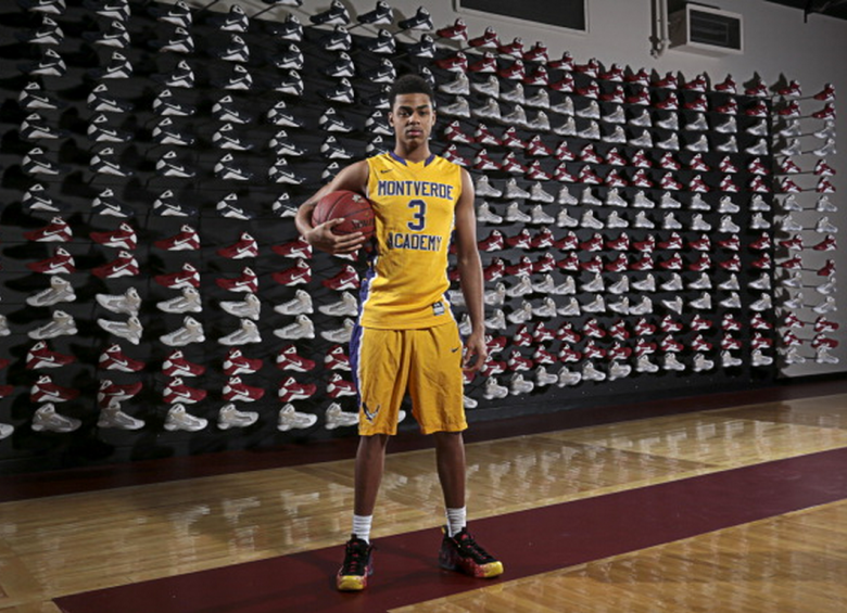 D'Angelo Russell of Monteverde Academy poses for a portrait during the 2014 Spaulding Hoop Hall Classic on December 19, 2014 at the Basketball Hall of Fame in Springfield, Massachusetts. (Getty)
