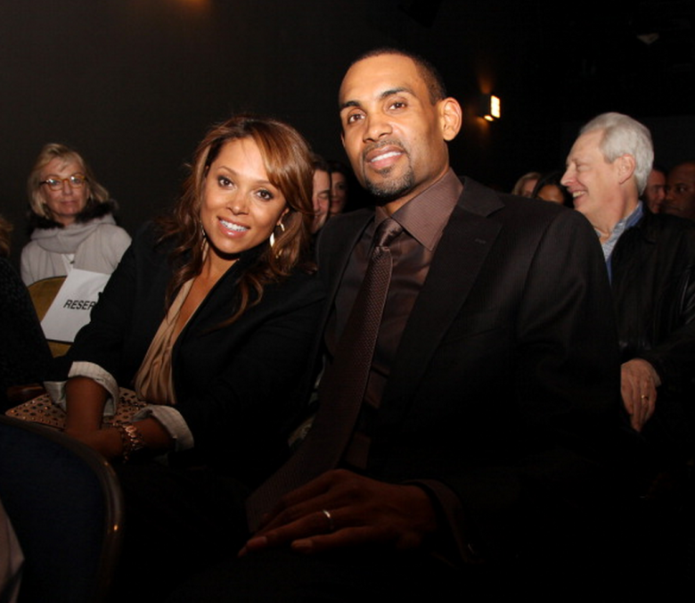 Executive Producer and NBA Player Grant Hill (R) and wife, recording artist Tamia Hill attend the premiere of 'Starting at the Finish Line: The Coach Buehler Story' during the 10th annual Tribeca Film Festival at Tribeca Cinemas on April 22, 2011 in New York City. (Getty)