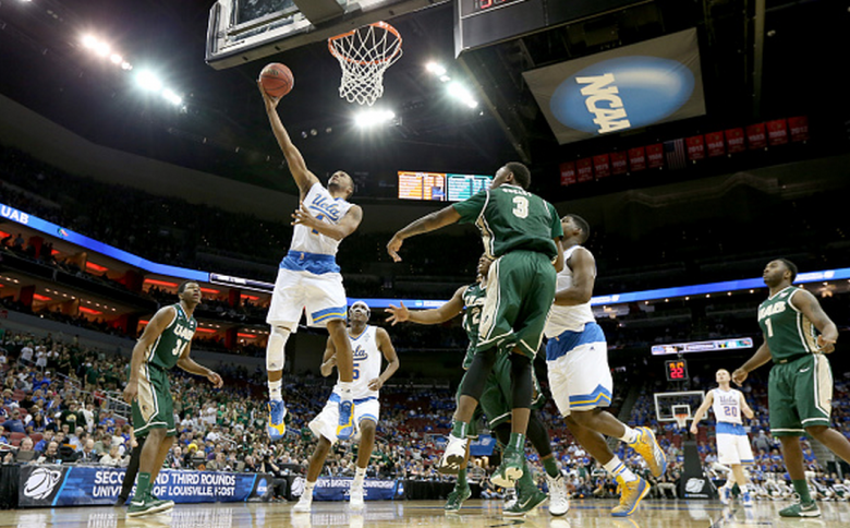 UCLA's Norman Powell drives to the basket against the UAB Blazers during the third round of the 2015 NCAA Men's Basketball Tournament. (Getty)