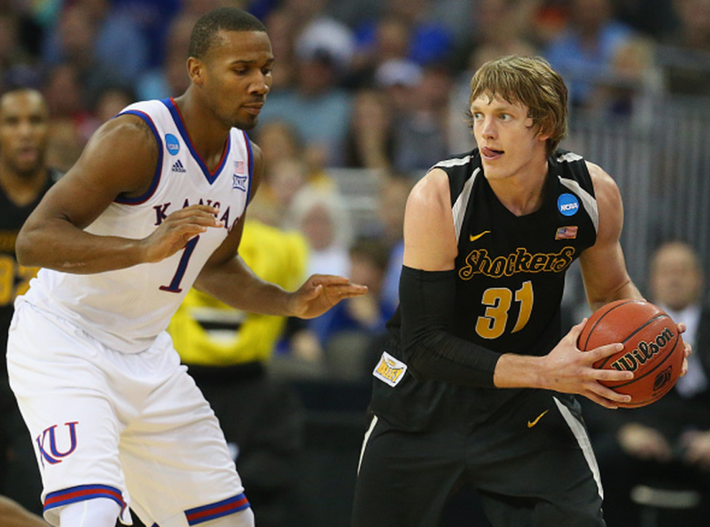 Wichita State's Ron Baker during the 2015 NCAA Men's Basketball Tournament. (Getty)