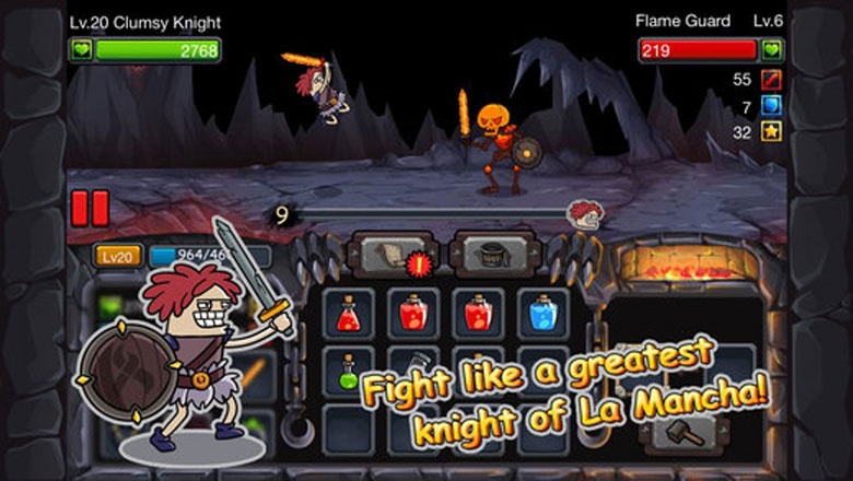Clumsy Knight vs. Skeletons