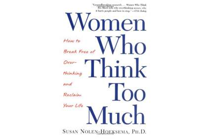 White book cover for Women who think too much