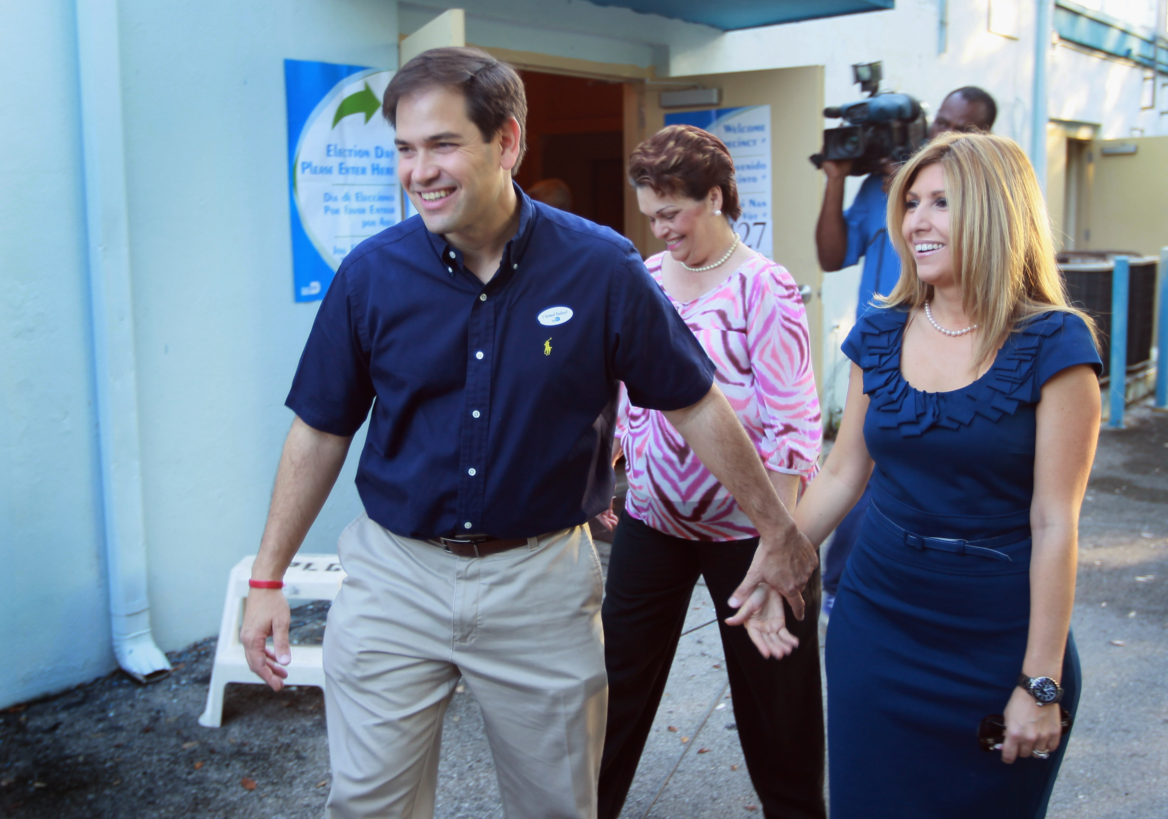 Jeannette and Marco Rubio in 2010. (Getty)