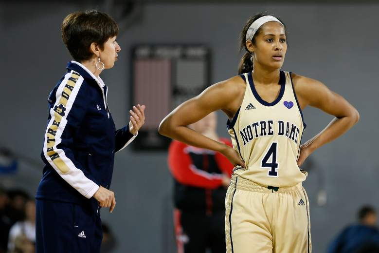 McGraw with Skylar Diggins during practice. (Getty)