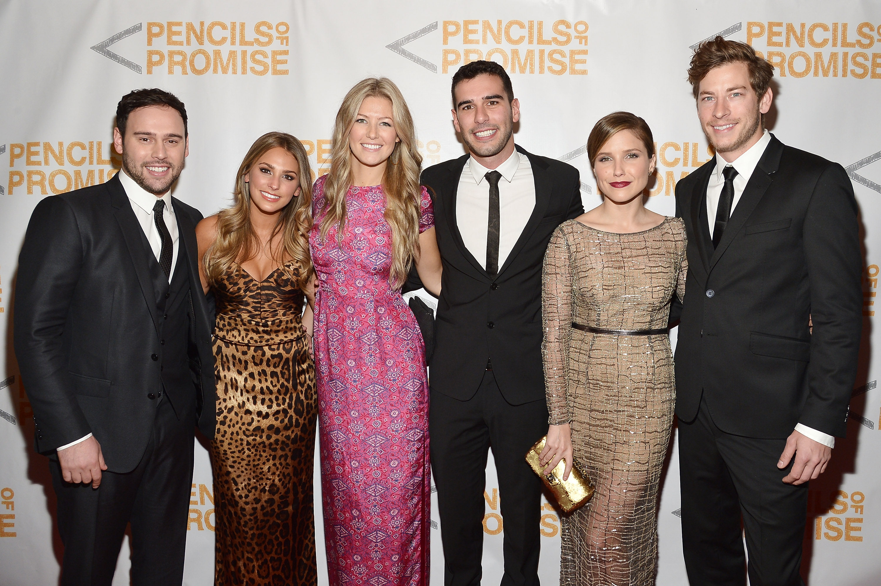 Dan Fredinburg, far right, with Sophia Bush and others  at a 2013 charity event in New York City.  (Getty)