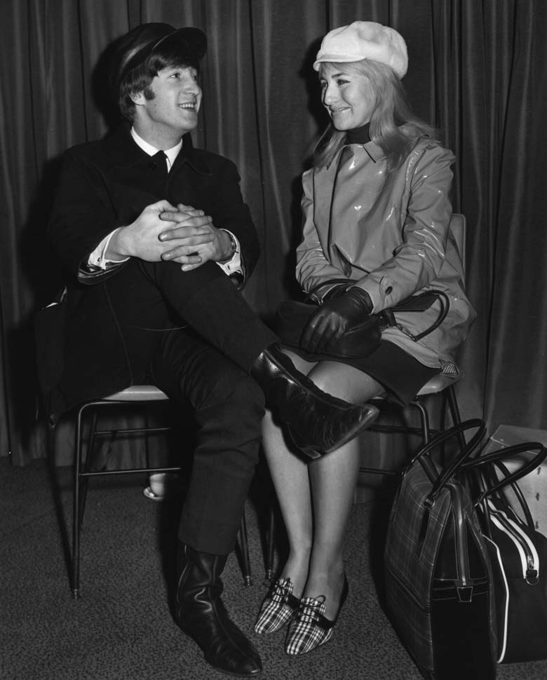 John and Cynthia pictured together in 1964. (Getty)