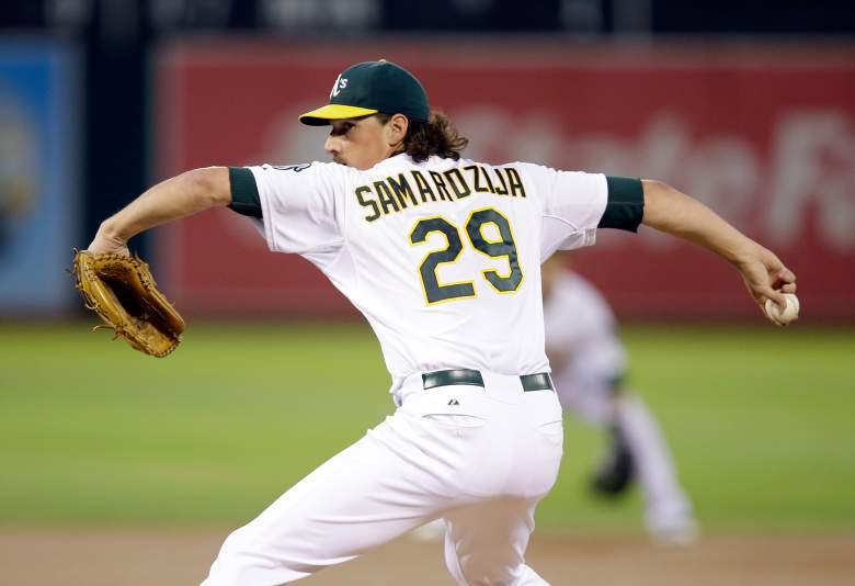 Jeff Samardzija was traded from the Chicago Cubs to the Oakland Athletics in 2014 and starts 2015 with the Chicago White Sox. (Getty)