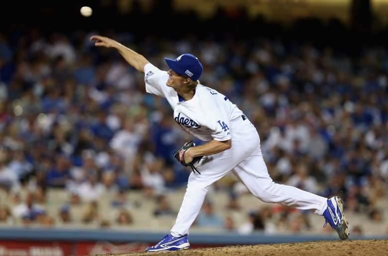 Dodgers Tuesday starter Zack Greinke. (Getty)