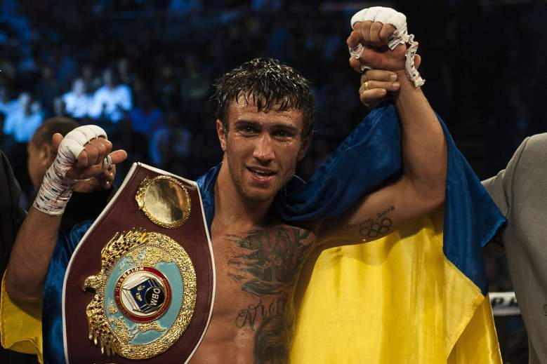 Vasyl Lomachenko is the WBO featherweight champion. (Getty)