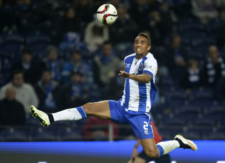 Danilo jumps for the ball during a match with Porto from 2014. (Getty)