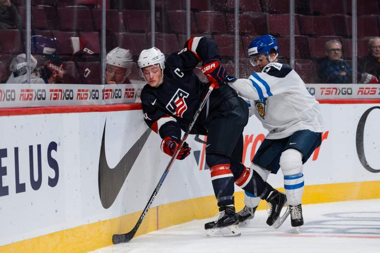 Jack Eichel was the captain for Team USA at the 2015 World Juniors. (Getty)