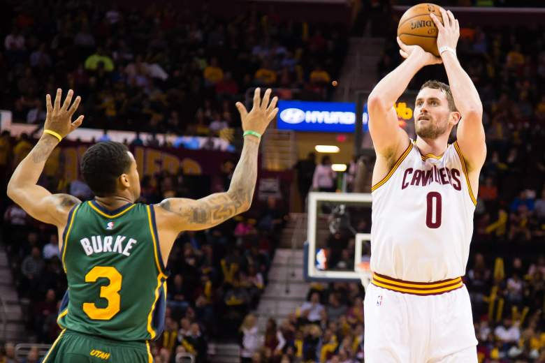 Kevin Love averages 16.4 points and 9.7 rebounds for Cleveland. (Getty)