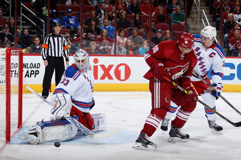 Henrik Lundqvist and the Rangers are the Eastern Conference favorites. (Getty)