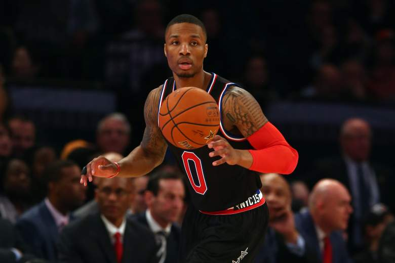 Damian Lillard made his first All-Star Game appearance this season. (Getty)