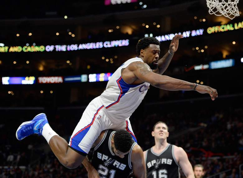 Clippers center DeAndre Jordan averaged 11,5 points and 15 rebounds per game during the regular season (Getty).