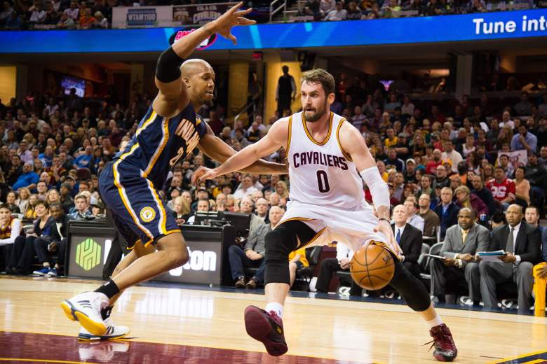 Kevin Love and Cavaliers are the Eastern Conference playoff favorites. (Getty)