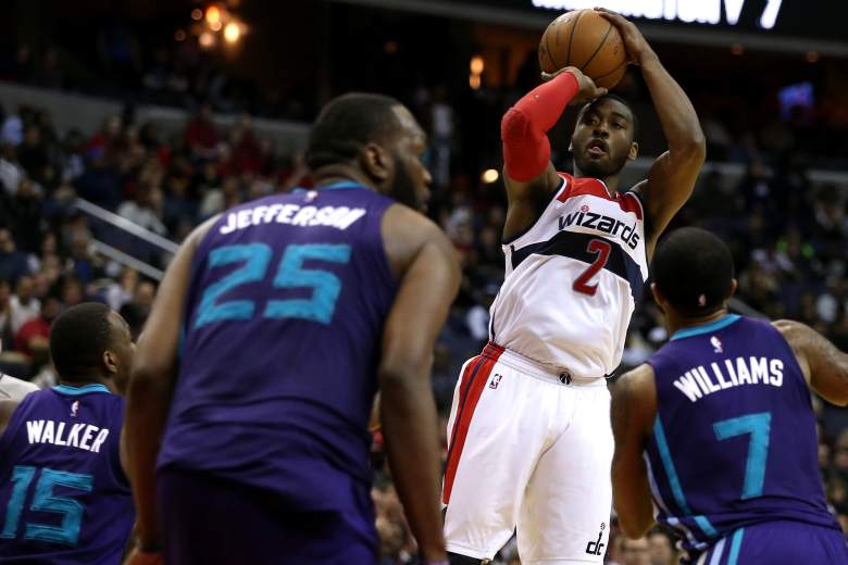 John Wall leads Washington with 17.6 points and 10 assists per game. (Getty)