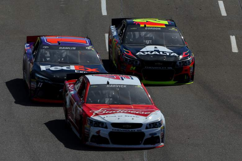Kevin Harvick is the early favorite for Saturday night's Duck Commander 500. (Getty)