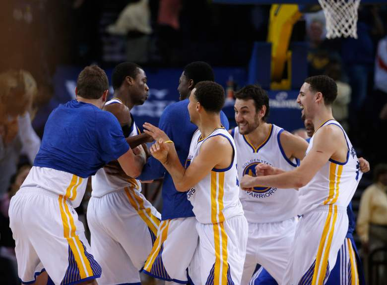 If the oddsmakers are correct, the Golden State Warriors will be advancing the NBA Finals. (Getty)