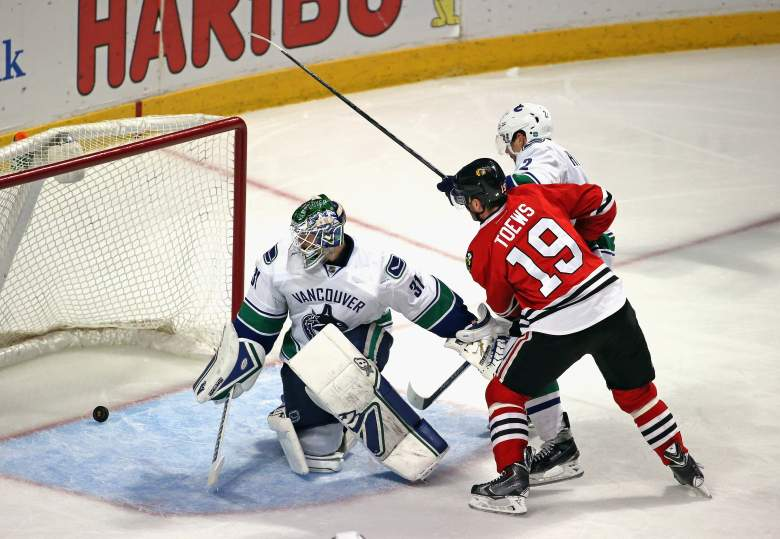 Jonathan Toews and the Chicago Blackhawks are the Western Conference favorites to reach the Stanley Cup Final. (Getty)