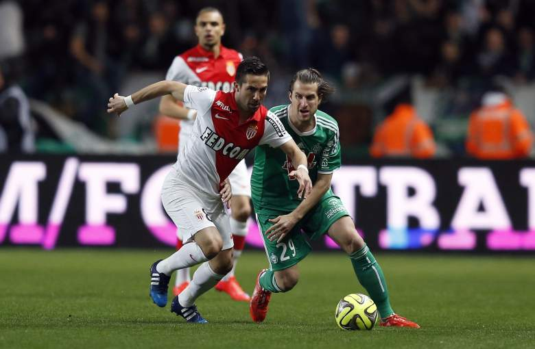 Joao Moutinho (L) has been a crucial part of Monaco's Champions League run. (Getty)