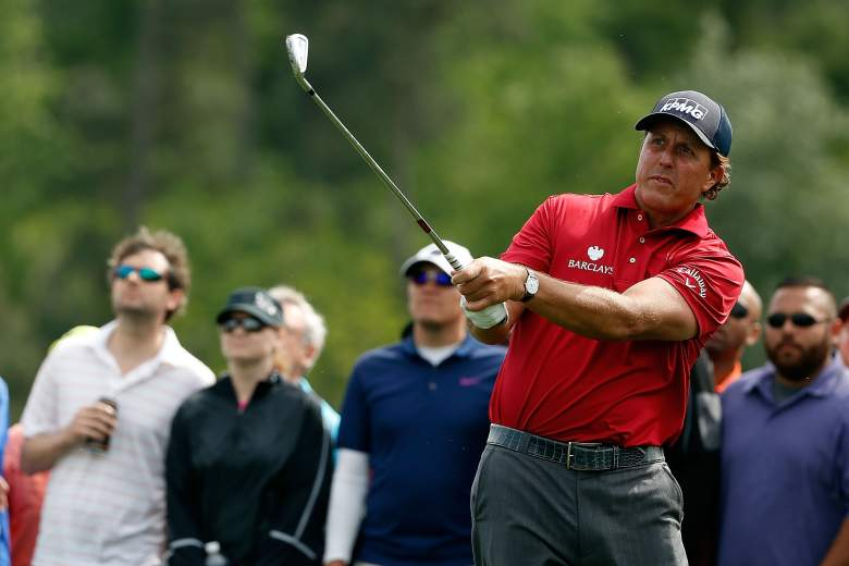Phil Mickelson is grouped with Rory McIlroy and Ryan Moore. They tee off at 10:41 a.m. Eastern Thursday. (Getty)