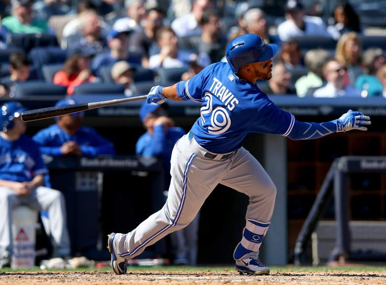 Devon Travis has been the Blue Jays best hitter over the first month. (Getty)