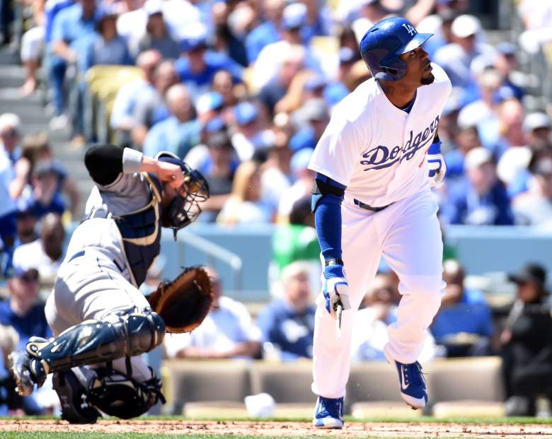 Dodgers outfielder Carl Crawford comes at a bargain price on Tuesday.  (Getty)