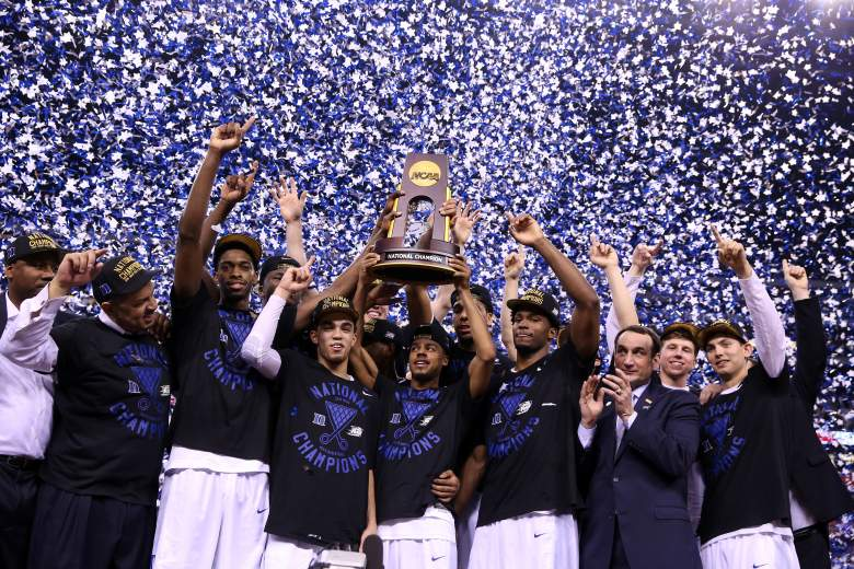 The early odds for Duke repeating as National Champions are 16/1. Getty)