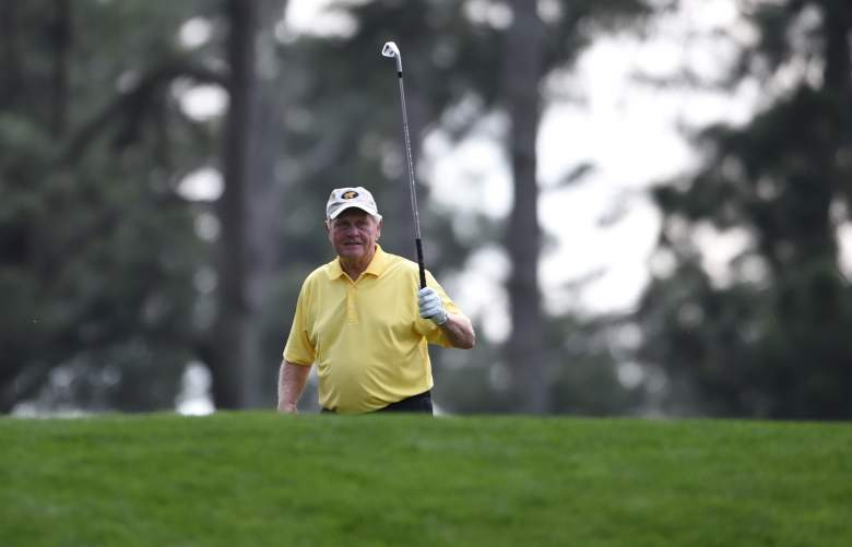 Legend Jack Nicklaus aced Hole 4 Wednesday at the Masters Par-3 Contest. (Getty)