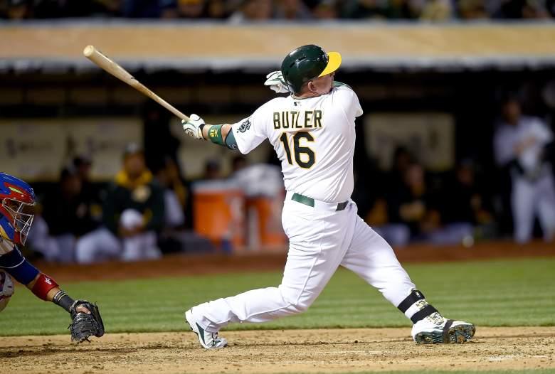 Former Royal Billy Butler returns to Kansas City Friday night. (Getty)