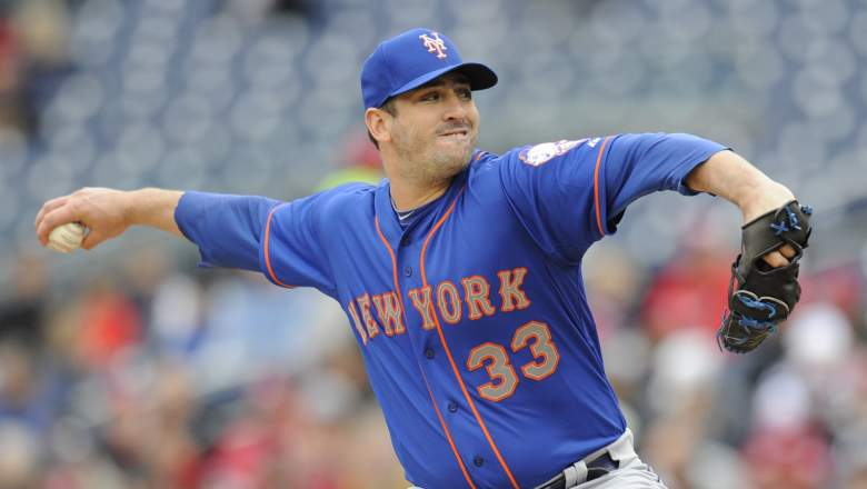Matt Harvey faces the Phillies at home Tuesday. (Getty)