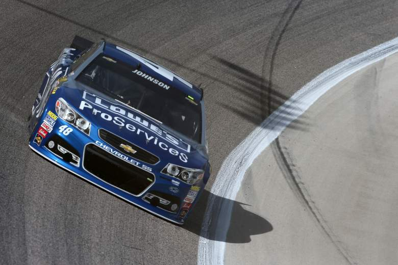 Jimmie Johnson circles the track at Texas Motor Speedway during practice for Saturday's Duck Commander 500. (Getty)
