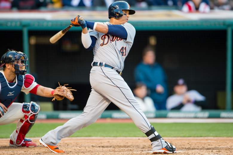 Victor Martinez has made a habit of crushing Chris Sale pitches. (Getty)