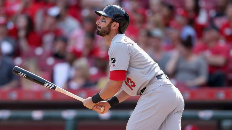 Matt Carpenter of the Cardinals is 15 for 25 vs. Reds starter Homer Bailey. (Getty)