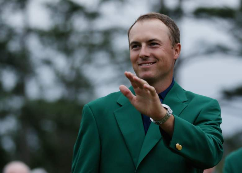 Jordan Spieth jumped a few spots in the World Golf Rankings after his Masters victory. (Getty)