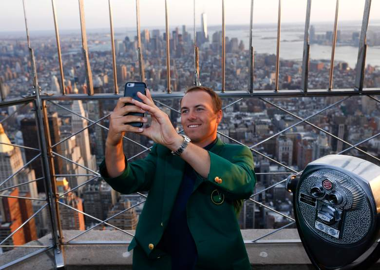 Jordan Spieth's whirlwind media tour included a trip the New York City and a visit to the Late Show With David Letterman. (Getty)