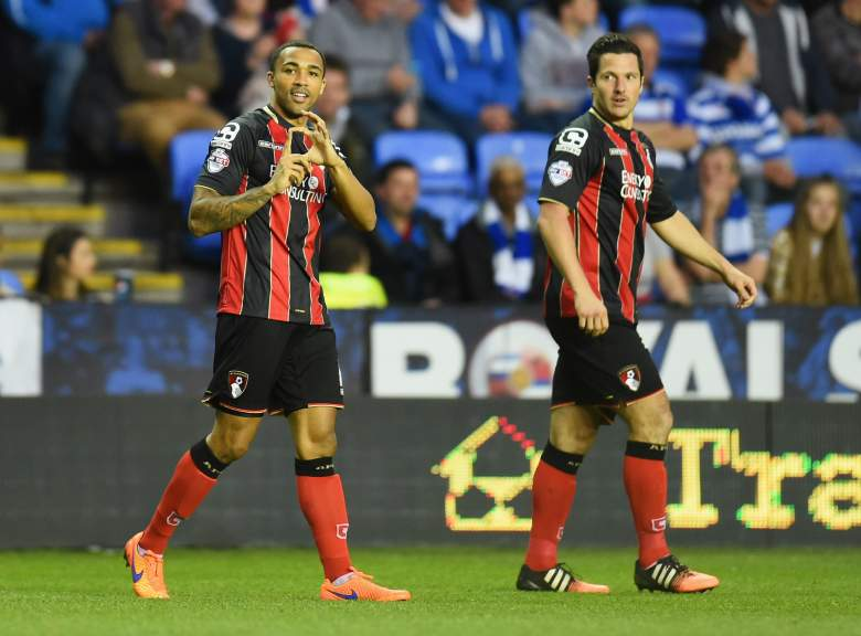 Callum Wilson (L) has fired 19 Championship goals for Bournemouth this season. (Getty)