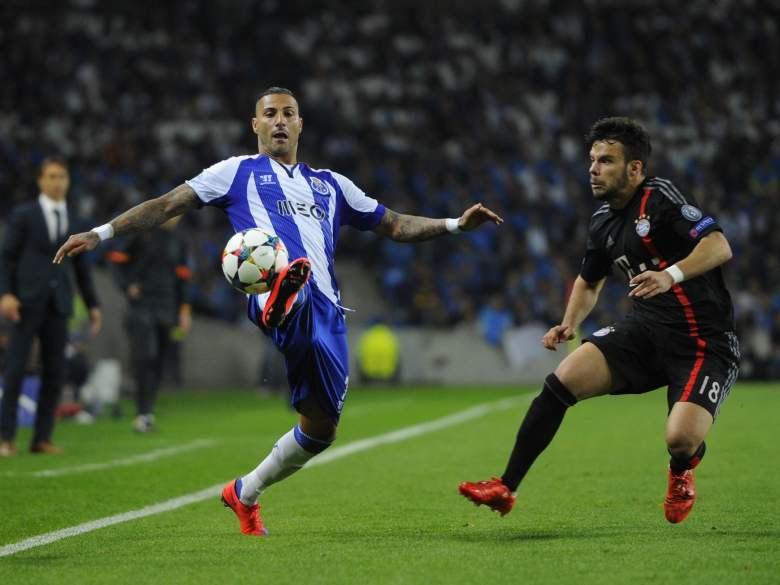 Porto's Ricardo Quaresma (L) fired a double in his teams 3-1 win over Bayern in the first leg last week. (Getty)