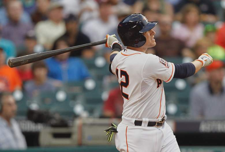 Jed Lowrie leads the Astros with 3 homers. (Getty)