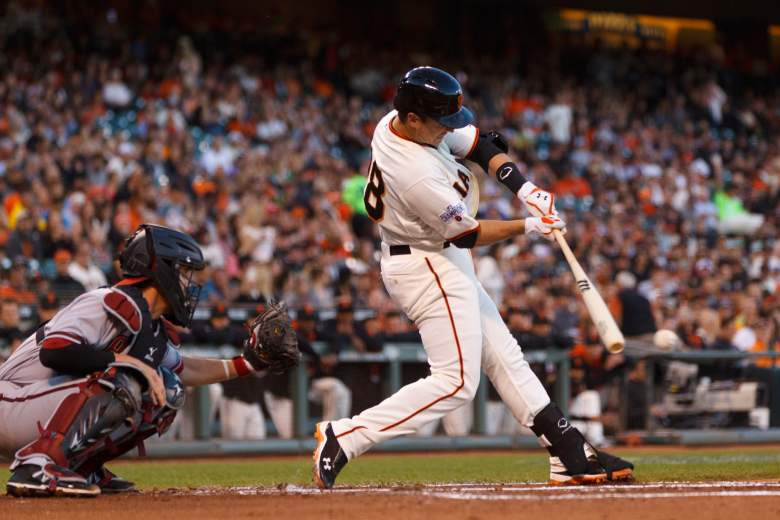 Buster Posey has made a habit of crushing Arizona pitching. (Getty)