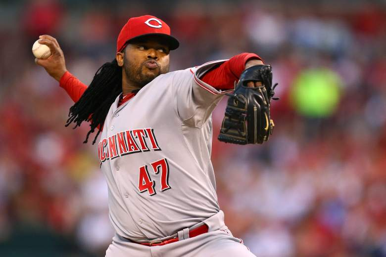 Reds pitcher Johnny Cueto starts Wednesday vs. the Brewers. (Getty)