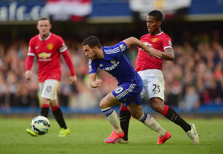 Edin Hazard scored the game-winning goal in a 1-0 win for Chelsea over Manchester United. (Getty)