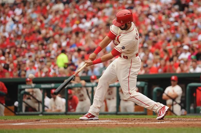 Cardinals 3B Matt Carpenter is one of the better FanDuel plays on Saturday. (Getty)