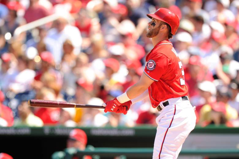 The Nationals' Bryce Harper has homered in 2 straight games. (Getty)