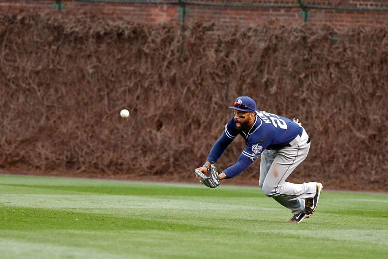 The Padres' Matt Kemp can hit and play defense. (Getty)