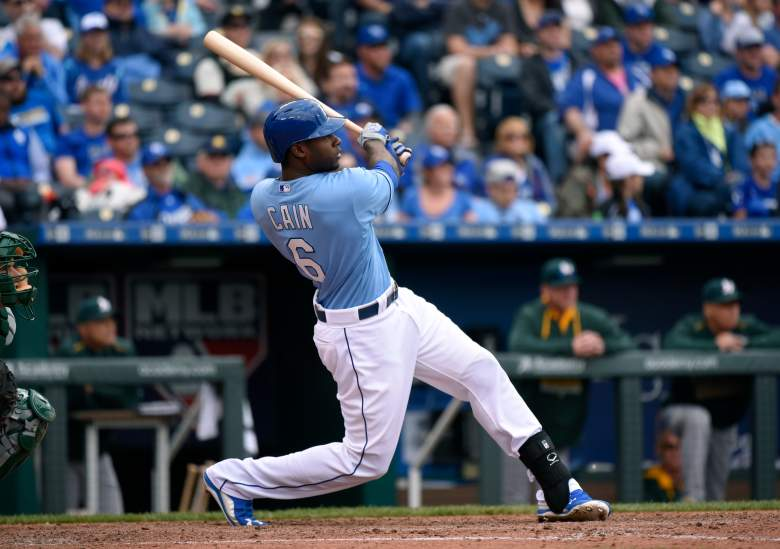 The Royals' Lorenzo Cain has been a hitting machine in the early going. (Getty)