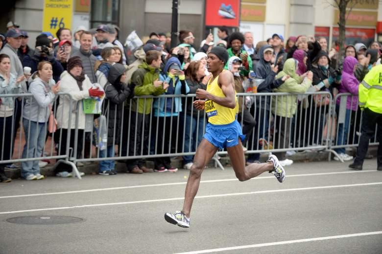 Lelisa Desisa won the men's elite division of the 2015 Boston Marathon. (Getty)